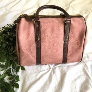 Victorias Secret blush pink suede and leather bag